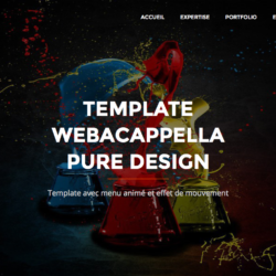 Template Pure Design Webacappella