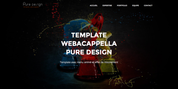 Template Pure Design Webacappella