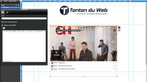 player soundcloud dans webacappella