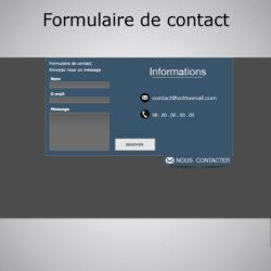 formulaire de contact animé