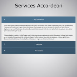 Plugin WebAcappella Services Accordeon