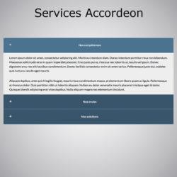 Plugin WebAcappella Services Accordeon