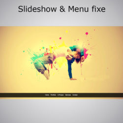 Slideshow et Menu fixe effet Smooth Scroll