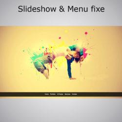 Slideshow et Menu fixe effet Smooth Scroll