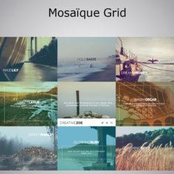 Mosaïque images animée Grid