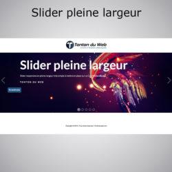 Slider Fullwidth pleine largeur