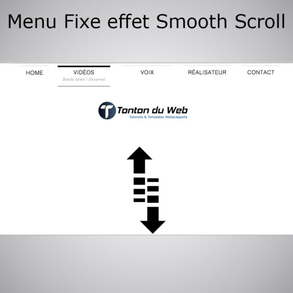 Menu Fixe Smart effet Smooth Scroll
