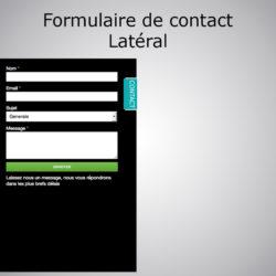 Formulaire de contact latéral