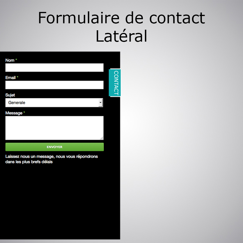 Formulaire de contact lat ral wa 4 tonton du web - Formulaire de contact ...