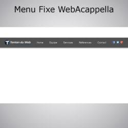 Menu fixe ultra personnalisable WebAcappella
