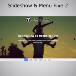 Slideshow et Menu fixe effet Smooth Scroll 2