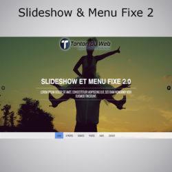 Slideshow et Menu fixe effet Smooth Scroll 2