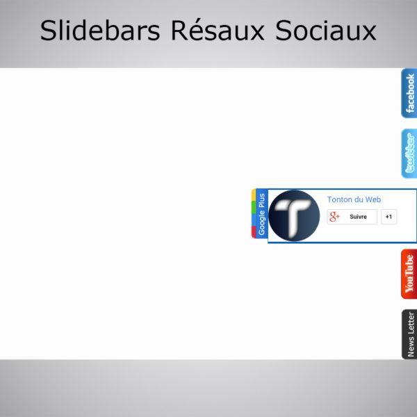 Slidebar Réseaux Sociaux + Template offert