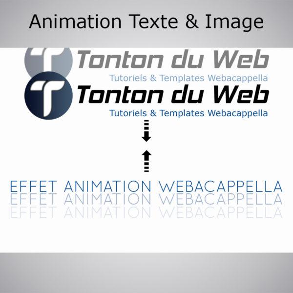 Animation texte & image WebAcappella