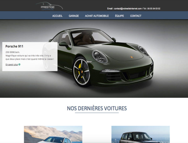 Template Prestige Garage WebAcappella