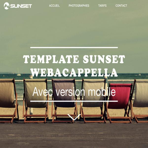 Template Sunset WebAcappella