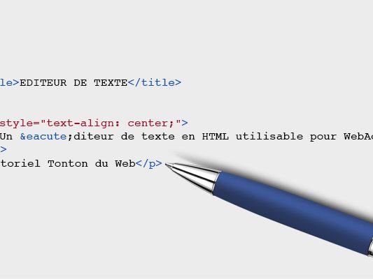 Editeur de texte HTML en ligne