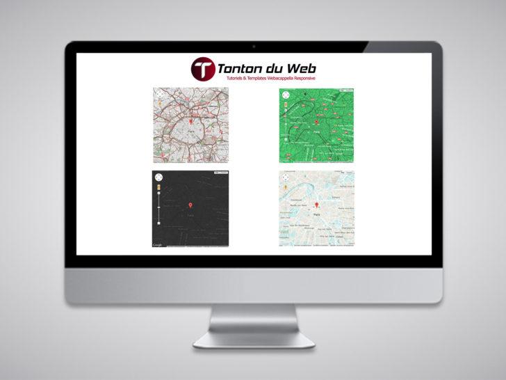 Personnaliser une carte Google Maps dans WebAcappella Responsive