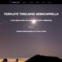 Template TimeLapse WebAcappella