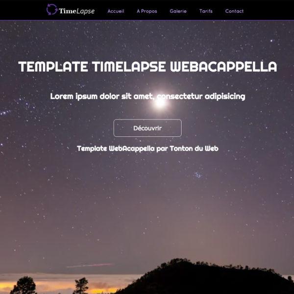 Template TimeLapse WebAcappella