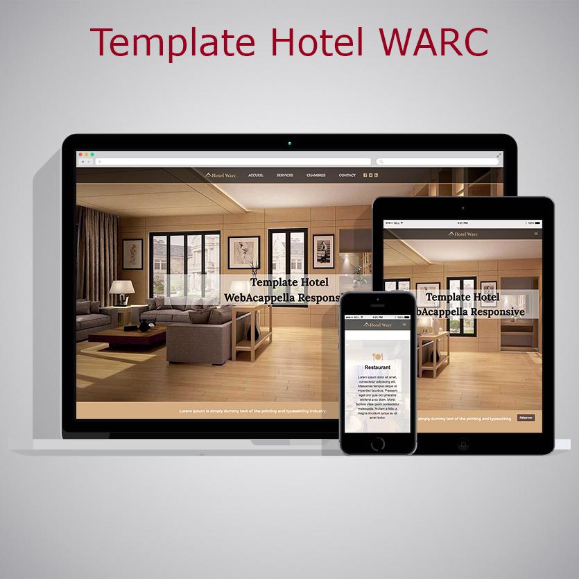 Template Hotel Webacappella Responsive Tonton Du Web