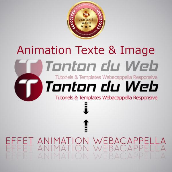 Animation texte et image WARC