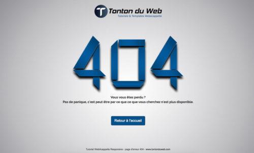 Personnaliser sa page 404