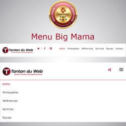 Menu Big Mama Responsive WARC