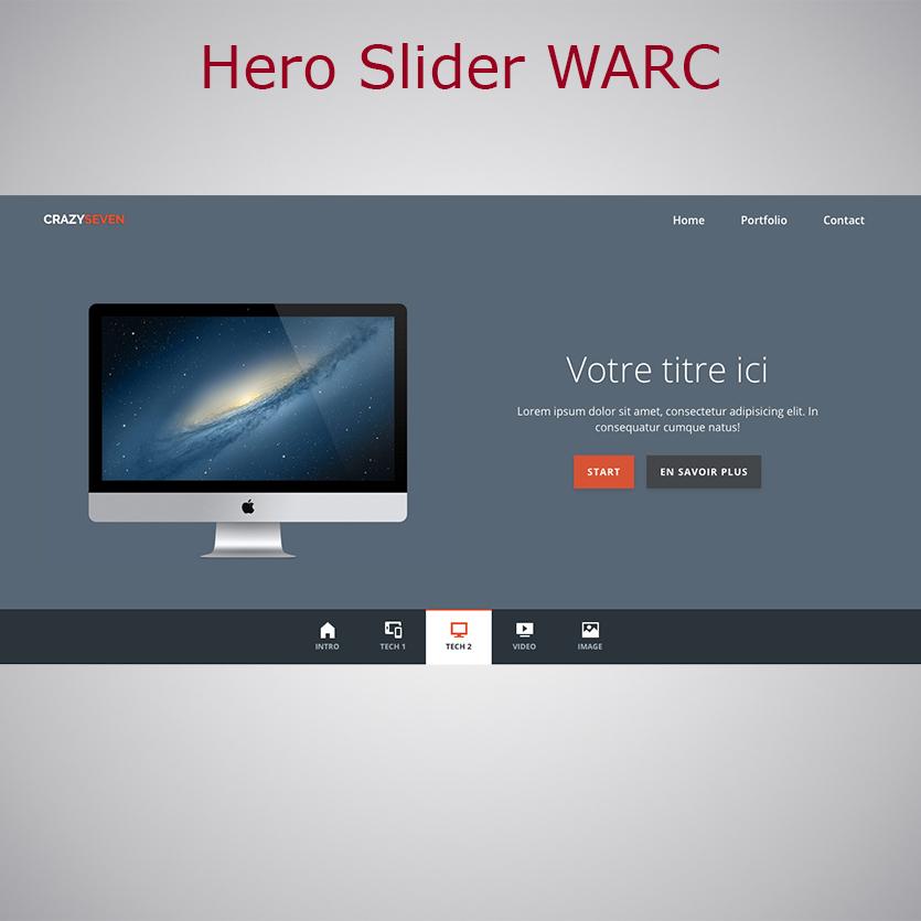 Plugin Hero Slider WARC