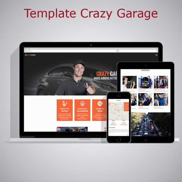 Template Crazy Garage WARC