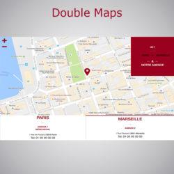Plugin Double Maps WebAcappella Responsive