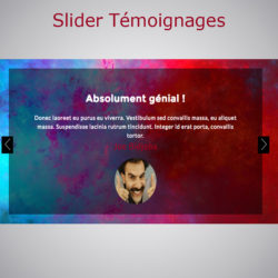 Plugin Slider Témoignages WARC