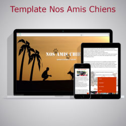 template nos amis chiens