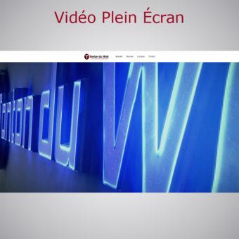 Vidéo Plein Écran WebAcappella Responsive