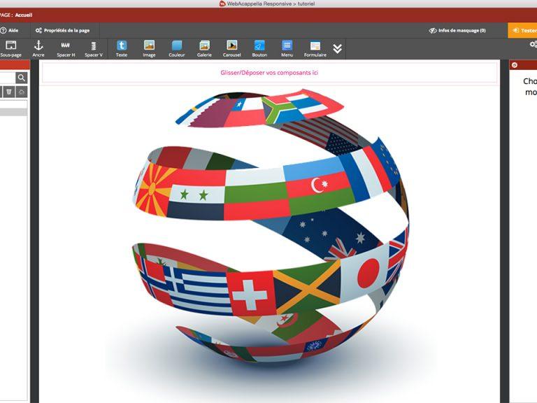 Le mode multilingue dans WebAcappella Responsive