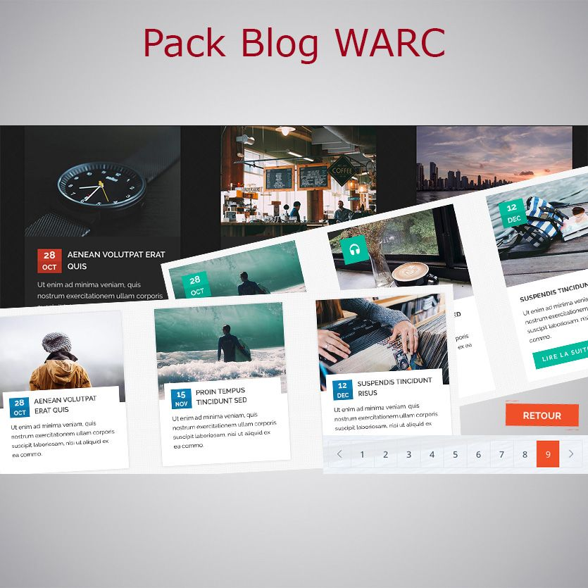 Pack Blog WebAcappella Responsive
