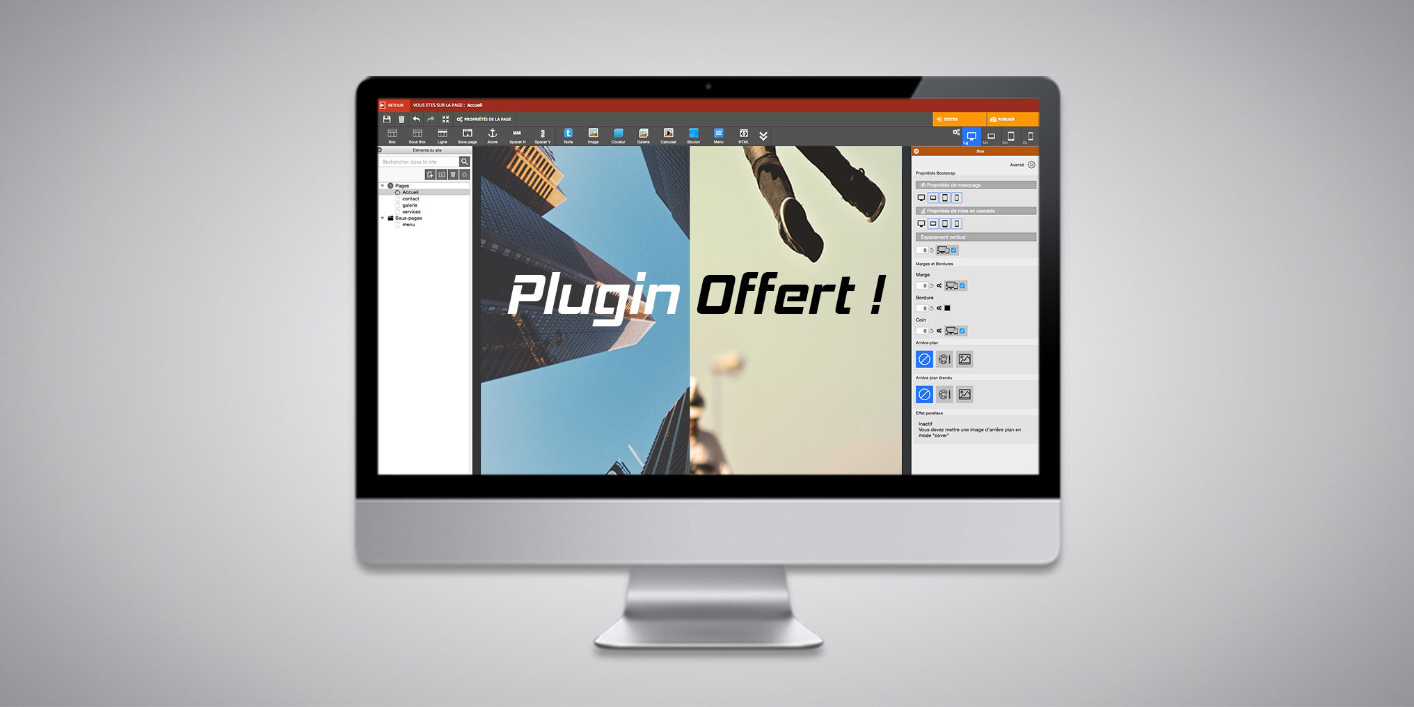 Plugin WebAcappella Responsive Offert : Split Screen
