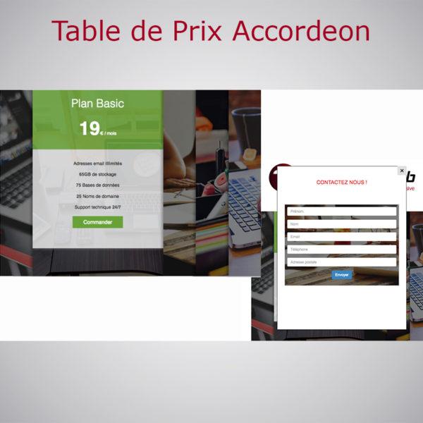 Table des Prix Accordéon