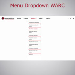 Menu Dropdown WebAcappella