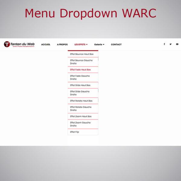 Menu Dropdown WebAcappella