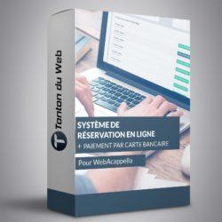 Système de réservation en ligne pour WebAcappella